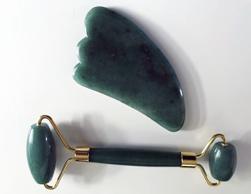 Dual Jade Roller and Gua Sha